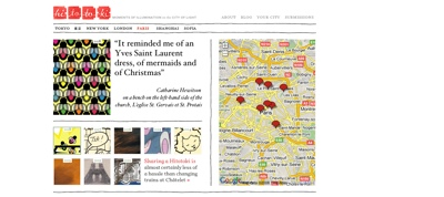 Hitotoki - A Narrative Map of Paris